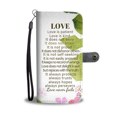 Corinthians 13 wallet phone case