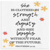 Scripture wall art, christian wall decor-Proverbs 31:25