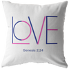Love throw pillow-Genesis 2:24