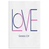 Christian wall art- Love wall art, genesis 2 24 wall art