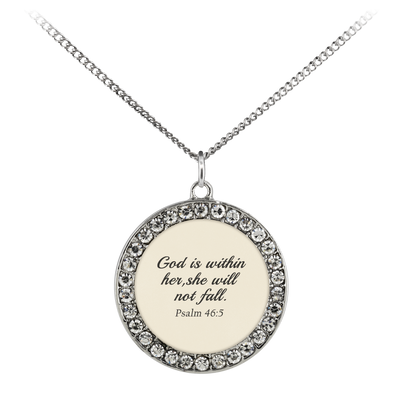 Scripture jewelry-God is within her, she will not fall.