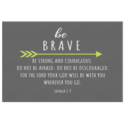 Scripture wall art, christian wall decor-Be brave. (Joshua 1:9)
