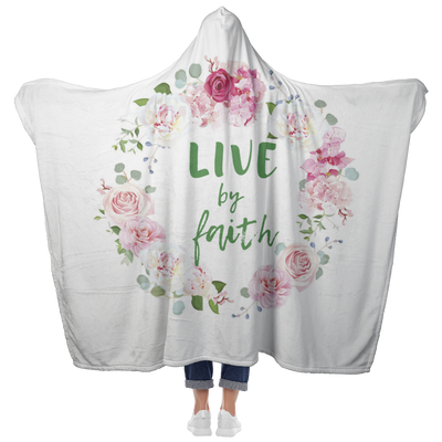 Hooded Blanket-Live by faith