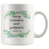Scripture mugs-Mercy triumphs over judgement