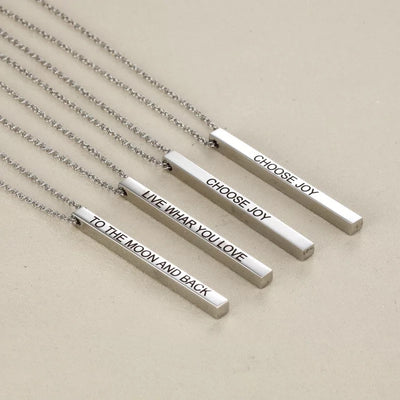 Personalized , Gift for him, Custom Name Necklace, Name Bar Necklace, layered and long PERFECT BAR Necklace
