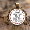 Scripture necklace-God is within her and she will not fall(Psalm 46:5)