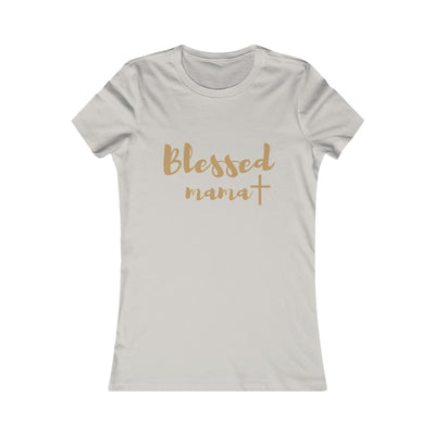 Christian T Shirt for women----You are blessed mama because of Jesus