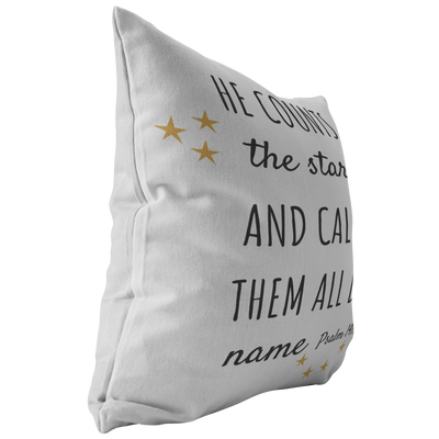 Scripture pillows-He counts the stars and calls them all by name