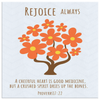 Scripture wall art, christian wall decor-Rejoice always.