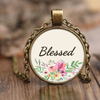 Scripture necklace-Blessed by God