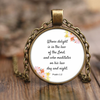Scripture jewelry, scripture necklace-(Psalm 1:2)