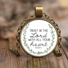 Scripture necklace-Trust in the lord with all your heart