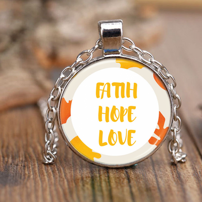 Scripture necklace-Faith, hope and love
