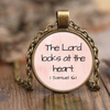 Scripture jewelry-The Lord looks at the heart. (1 Samuel 16:1)