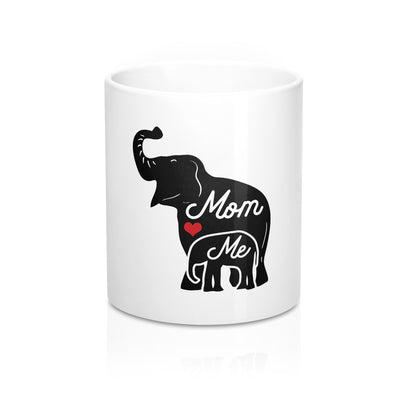 Mothers day mug, mom and me mugs, elephant mug