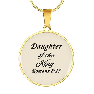 CHRISTIAN INSPIRATIONAL Necklace & Bangle-YOU ARE THE DAUGHTER OF THE KING