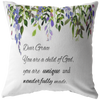 DIY Scripture pillow-You are a child of God(Add your own name on here)