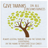 Scripture wall art, christian wall decor-Give thanks always