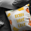 Scripture pillow-Faith, hope and love