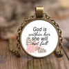 Scripture jewelry, scripture necklace-God is within her, she will not fall.