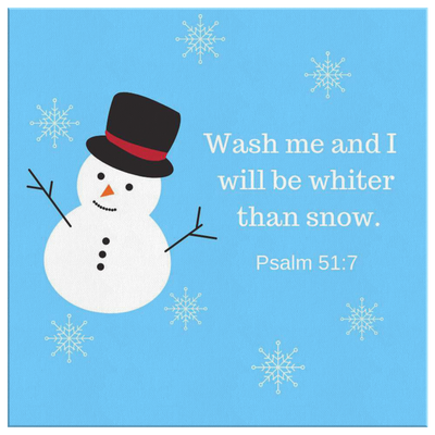 Scripture wall art, bible wall decor-Wash me and I will be whiter than snow.(Psalm 51:7)