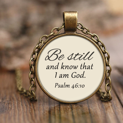 Scripture jewelry-Be still and know that I am God 2