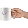 Love coffee mug, coffee mug with bible verse