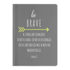 Scripture notebook, christian notebook, bible notebook, paperback-Be brave. (Joshua 1:9)