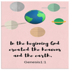 Scripture wall art, christian wall decor-In the beginning, God created the heavens and the earth