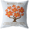 Scripture pillows-Rejoice always