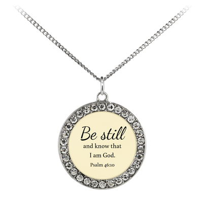 Scripture jewelry-Be still and know that I am God(Psalm 46:10) 3