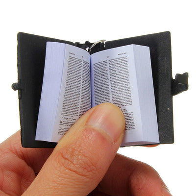 Cute Mini English HOLY BIBLE Keychains