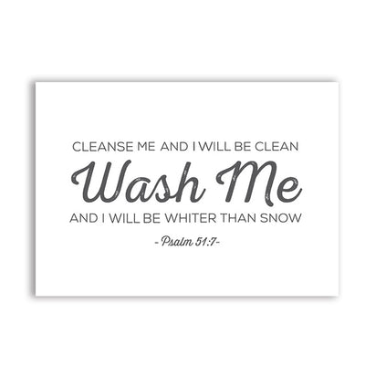 Scripture wall decor-Wash me by Jesus