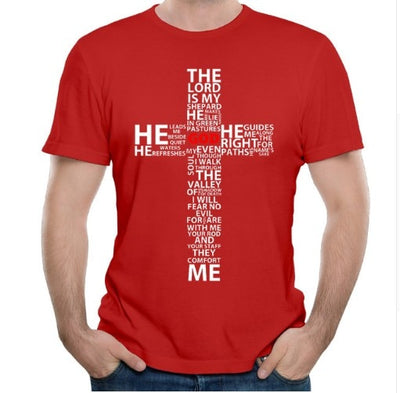 Father's day gift---Bible t shirt for men--The lord is my shepherd