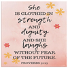 Scripture wall art, christian wall decor-(Proverbs 31:25)