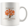 Scripture coffee mug-Rejoice always.