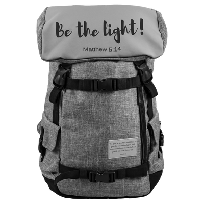 Inspirational backpack-Be the light of the world.