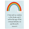 Scripture wall art, bible wall decor-I have set my rainbow in the clouds, and it will be the sign of the covenant between me and the earth.