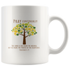 Scripture coffee mug-Pray continually.