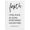 Scripture wall art, bible wall decor-2 Corinthians 5:7
