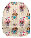 OSFM Pocket Nappy-Upright Bum Print  -  31074U
