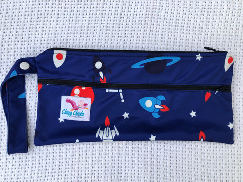 Mini Wetbag - Double-Zip N102 - Chirpy Cheeks Nappy Store - cloth nappies, wetbags, mama pads, breast pads, swim nappies