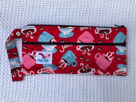 Mini Wetbag - Double-Zip N098 - Chirpy Cheeks Nappy Store - cloth nappies, wetbags, mama pads, breast pads, swim nappies