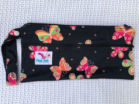 Mini Wetbag - Double-Zip N096 - Chirpy Cheeks Nappy Store - cloth nappies, wetbags, mama pads, breast pads, swim nappies