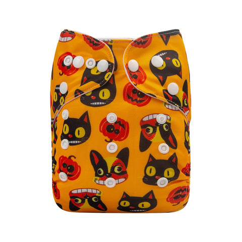 OSFM Pocket Nappy - Q59 (Limited Halloween Print)
