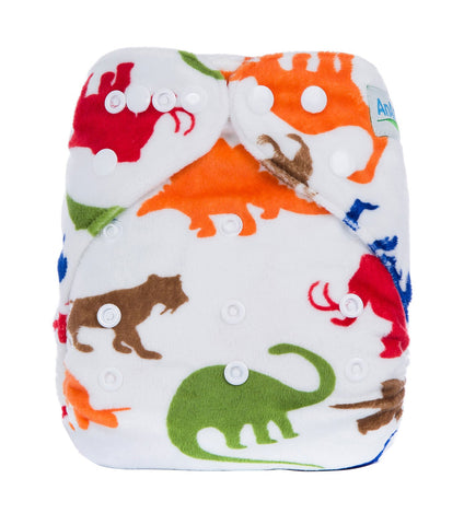 OSFM Minky Pocket Nappy - D1 - Chirpy Cheeks Nappy Store - cloth nappies, wetbags, mama pads, breast pads, swim nappies