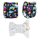 OSFM Pocket Nappy - N60 - Chirpy Cheeks Nappy Store - cloth nappies, wetbags, mama pads, breast pads, swim nappies
