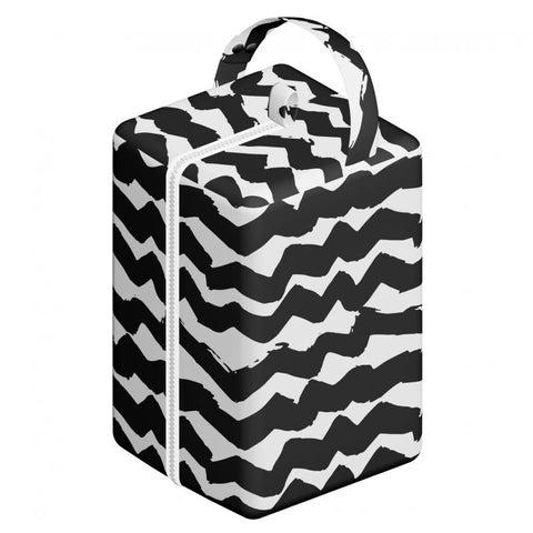 Elf Nappy Pod (17 x 17 x 27cm) Y41 Black and White Chevron