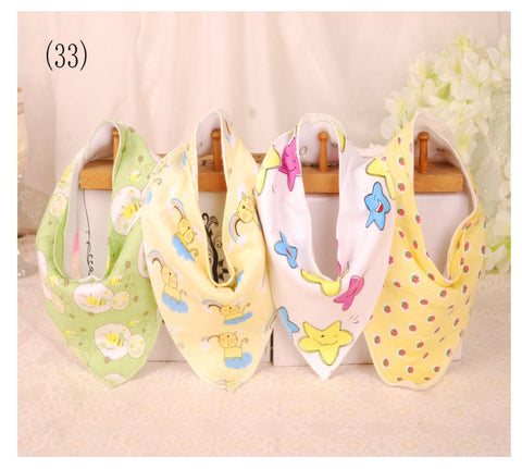 4 pcs. Bandana Bib - E2582 - Chirpy Cheeks Nappy Store - cloth nappies, wetbags, mama pads, breast pads, swim nappies