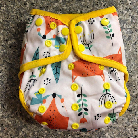 OSFM Nappy Cover - Fox - Chirpy Cheeks Nappy Store - cloth nappies, wetbags, mama pads, breast pads, swim nappies